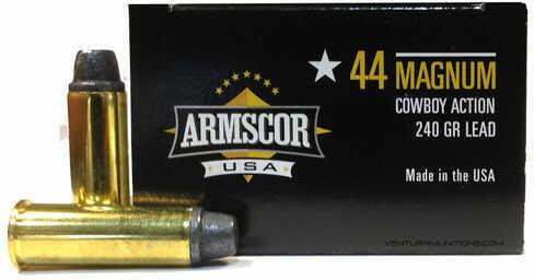 Armscor Precision Inc Armscor Ammunition 44 Mag 240 Grain Semi-wadcutter 50 Rounds