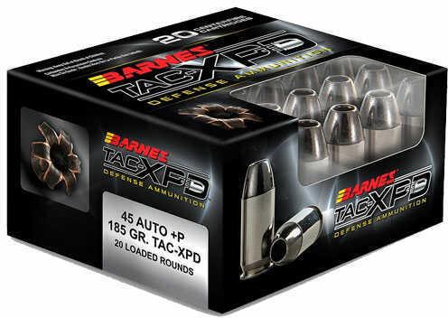 Barnes Bullets 45ACP +P 185gr TAC-XP (Per 20) 21555