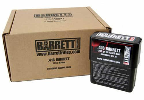Barrett Firearms .416 Ammunition Barrett Turned Brass 395 Gr VLD 80 Rounds Ammunition 3250 FPS 41680