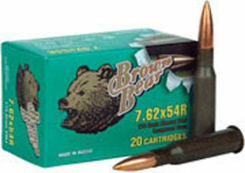 Bear Ammunition Brown 7.62X54R FMJ 174Gr 20 Rds AB754FMJ