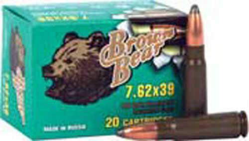 Bear Ammunition Brown 7.62X39 125Gr SP 500RDS/Case AB762SP