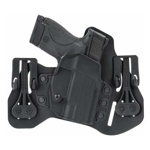 BlackHawk Holster Leather Tuckable Pancake S&W Shield Black Right Hand