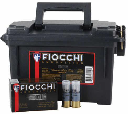 """Fiocchi Ammo Fiocchii High Velocity Ammunition 12 Gauge 2-3/4"""" 1 oz Aero Rifled Slug Ammunition in Plano Can of 80 12FSLUG"""