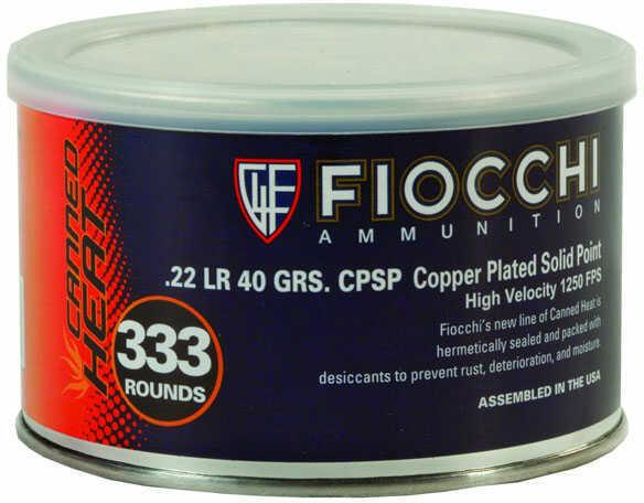 Fiocchi Ammo 22LR 40Gr CPSP Canned Heat 333/3 Ammunition 22CHVCR3