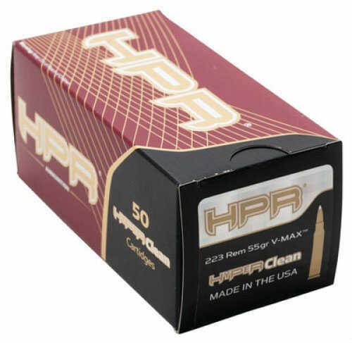 HPR Ammunition HPR 223 Rem 75Gr BTHP Match HYPERCLEAN 50 Rounds Ammuntion 223075BTHP