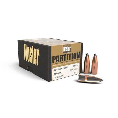 Nosler 35 Caliber 225 Grains SP Partition Bullets  358