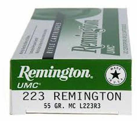 Remington UMC 223 55gr FMJ Bulk Pack 1000rd L223R3BP
