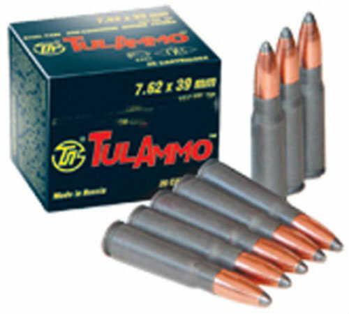 Tulammo TULA 7.62X39 122 Grains HP 640 Rounds Tin (Steel Cased) Ammunition 076205