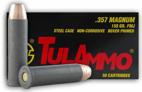 Tulammo TULA 357 Magnum Ammo 158Gr FMJ 50 Rounds TA357158