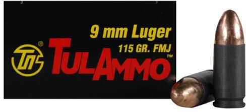 Tulammo Tula 9mm Ammo 115 grain Full Metal Jacket 100rd Can 100rds/box 10 boxes/case TAB90002