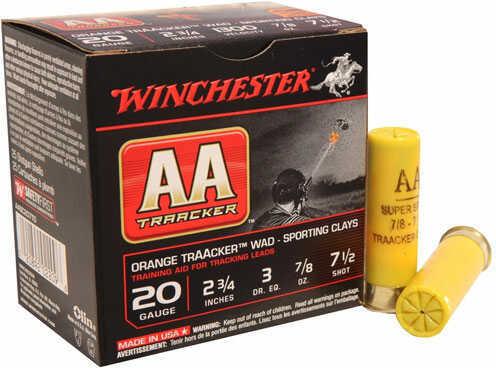 "Winchester AA Traacker Ammo 20 Gauge #7.5 Shot 2.75"" Shell 7/8oz 25 Rounds md: AASC207TB"