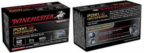 Winchester 12 Gauge Supreme Elite Pdx1s Self Defense 1 oz Segmented Slug 10 rounds Ammunition S12PDX1S