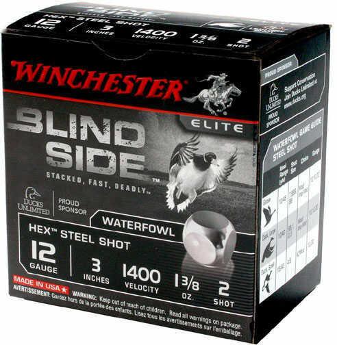 """Winchester Blindside 12 Gauge 3.5"""" Shell #6 Shot 1 3/8oz 25 Rounds MN# SBS12LHV6"""
