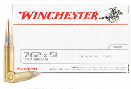 Winchester 308 Winchester 7.62x51 NATO 147Gr FMJ 120 Rounds