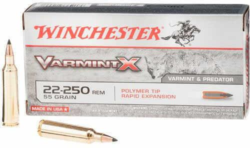 Winchester Varmint X 22-250 Ammo 55 Grains Polymer Tip 20rds MN# X22250P