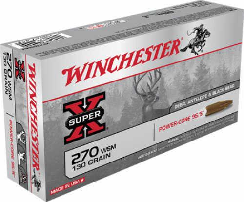 Winchester Ammo 270 Wsm 130gr Power Core 95/5 20 Per Box X270WSMLF