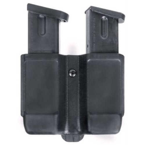 BlackHawk Products Group Blackhawk Black Matte Double Mag Case Single stack 9mm/.40 cal - Black - Built-in tension spring - I 410510PBK