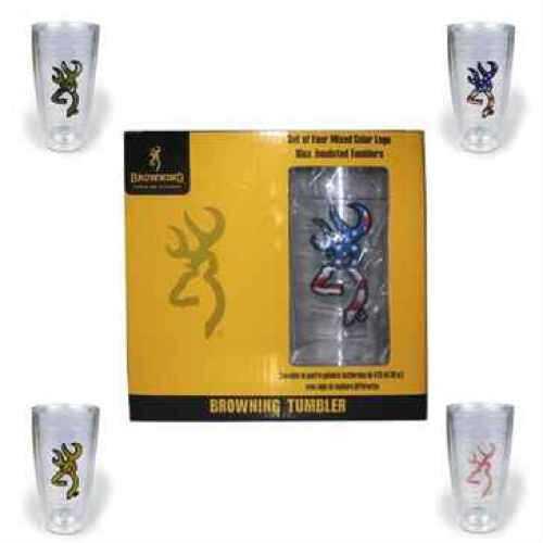 AES Optics Inc Browning Tumbler 4-Pk Pink/Gold/Camo/USA TBL-003