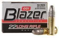 CCI Rimfire Ammunition 22LR HS Blazer 50/bx 0021