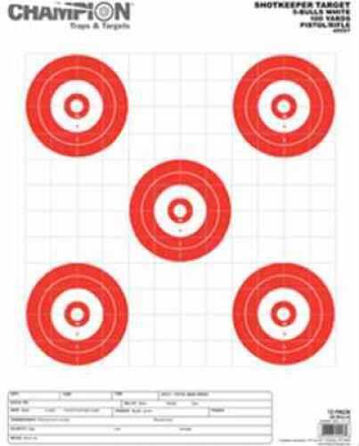 Champion Traps and Targets Champion Shotkeeper Shotkeeper 5Bulls Lrg Wht 45557