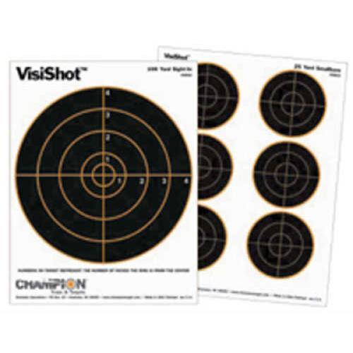Champion Traps and Targets VisiShot Targets 25 Yard Small Bore (10 Pack) 45803