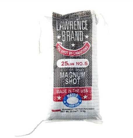 Cascade Industry Brownells Lawrence Brand Magnum Shot #5, 25Lb Bag