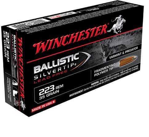 Winchester 223 Remington 35gr Ballistic Silvertip Supreme Lead Free /20 S223RLF