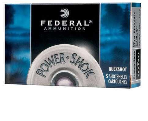 """Federal Cartridge 16 Gauge Shot shells 16 Gauge Power-Shok 2 3/4"""" Max dram 12 Pellets 1 Buck (Per 5) F1641B"""