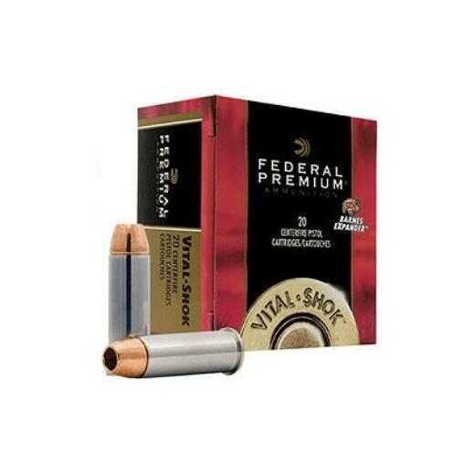 Federal Cartridge 44 Remington Magnum 225gr Barnes Expander, VitalShok (Per 20) P44XB1