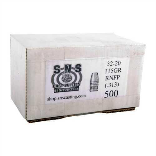 Cascade Industry SNS Cast Bullet 32-20 .313 115Gr RNFP