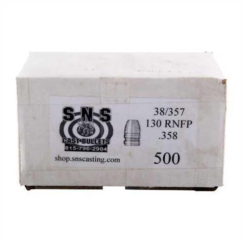 Cascade Industry SNS Cast Bullet 38/357 .358 130Gr RNFP