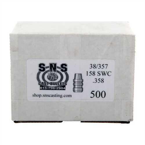 Cascade Industry SNS Cast Bullet 38/357 .358 158Gr SWC