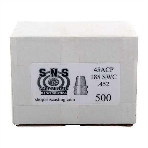 Cascade Industry Brownells SNS Cast Component Bullet 45ACP .(452), 185 Grain Semi-Wadcutter, 500 Per Box