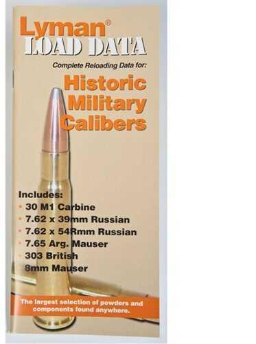 Lyman Load Data Book Old Military Calibers 9780016