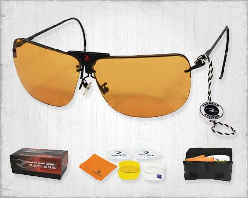 Radians RSG-3 Glasses Clear, Orange & Amber Lenses Interchangeable RSG-3LK