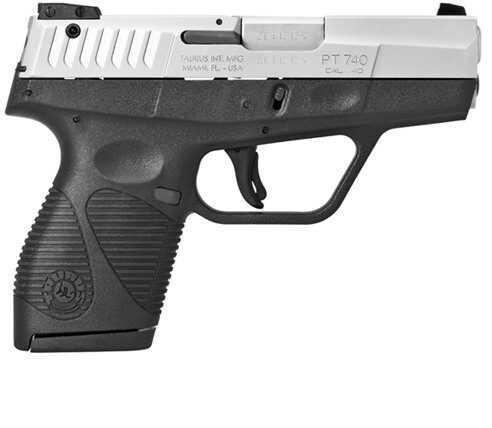 "Taurus PT 740 Slim 40 S&W 6 + 1 Rounds 3.2"" Barrel Stainless Steel Semi-Auto Pistol 1740039"