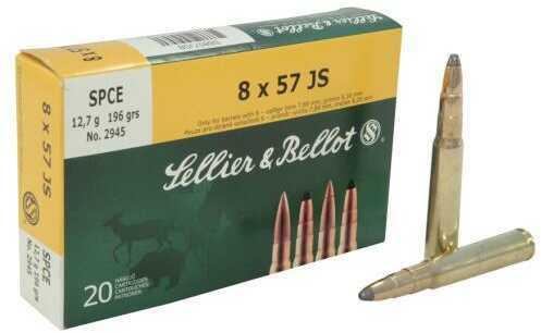 Sellier & Bellot 8x57JS 196 Gr FMJ 20/Box Ammo