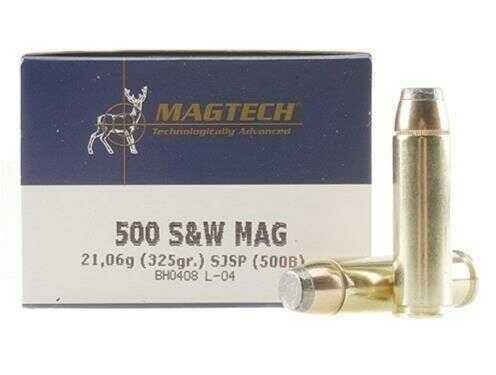 MagTech Ammunition Magtech Ammo 500 S&W FMJ 325 Gr 20/Box