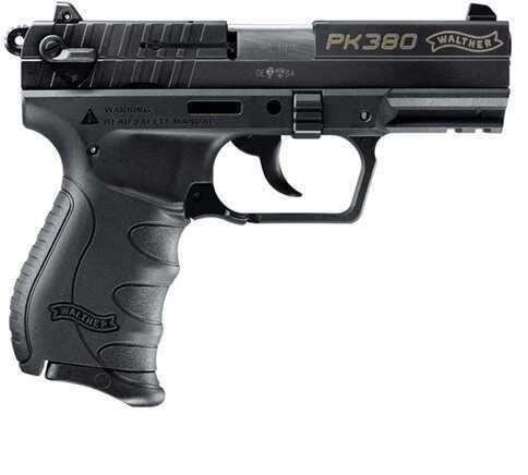 "Pistol Walther Pk380 380 ACP 3.66"" Barrel 8 Rounds Black"