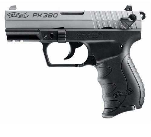 "Walther Pk380 Nickel 380 3.66"" Barrel 8 Round Semi Automatic Pistol"