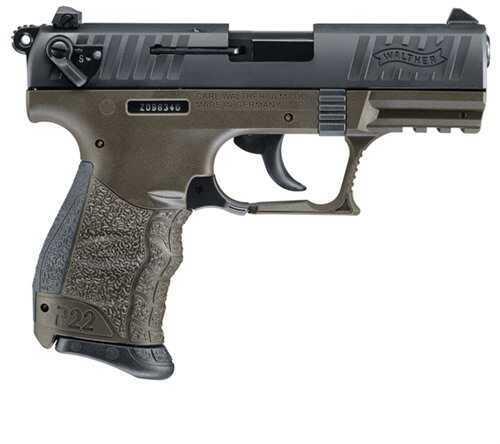 "Walther P22 Pistol 22 Long Rifle Military 3.42"" Threaded Barrel USA Semi Automatic Pistol 5120315"