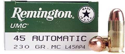 Remington UMc Bulk Pack 45 ACP 230Gr Mc 500rds (500 rounds Per Box)