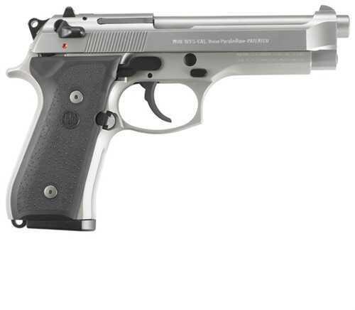 "Pistol Beretta 92 FS INox 9mm Luger 4.9"" Barrel 15 Rounds"