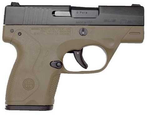 "Pistol Beretta Bu9 NaNo 9mm Luger 3"" Barrel 6 Rounds Flat Dark Earth"