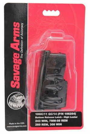 Savage Arms Savage Magazine Box Assembly 243 Win Hi-Luster Blued