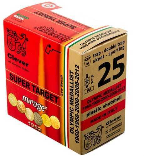 Clever Mirage Super Target 28 Gauge 2.75 Inch 3/4 Ounce #8 Shot Shotshells, 250 Rounds Per Case