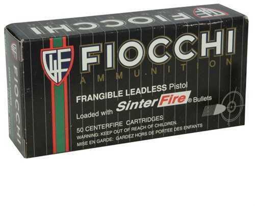 Fiocchi Ammo Fiocchi Frangible 100 Grain 9mm Luger Ammunition, 50 Rounds Per Box Md: FI9SFNT