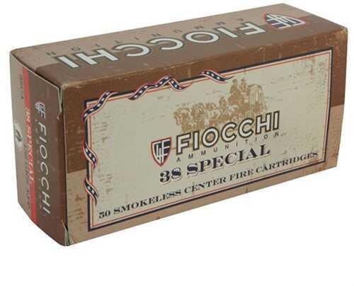 Fiocchi Ammo Fiocchi Cowboy 158 Grain Lead Flat Nose 38 Special Ammunition, 50 Rounds Per Box Md: FI38CA