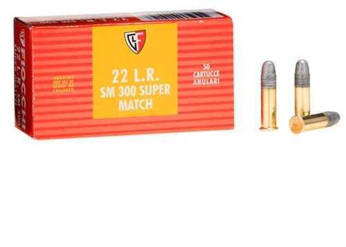 Fiocchi Ammo Fiocchi Exacta Pistol Super Match, 22 Long Rifle 40 Grain Round Nose Ammunition, 50 Per Box