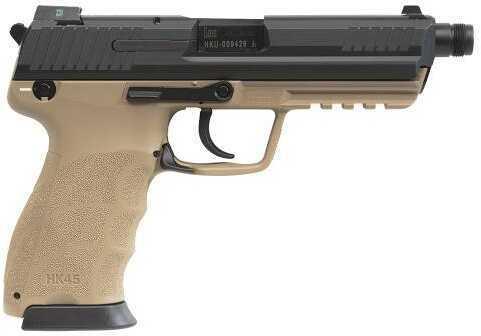 "Heckler & Koch HK45 45 ACP 5.2"" Barrel 10 Round Desert Tan Semi Automatic Pistol 745001TTLE-A5"